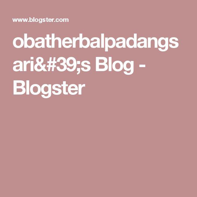 obatherbalpadangsari's Blog - Blogster