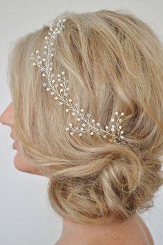 Boda cabello vid pedazo del pelo de la boda por RoslynHarrisDesigns
