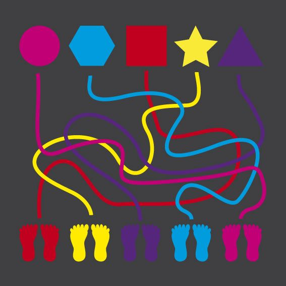 WildZebra Playground Markings Mazes - Line Maze