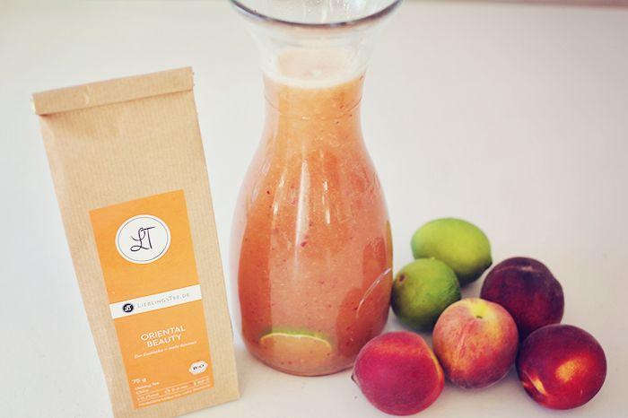 Eistee Pfirsich selber machen mit Oolong Tee
