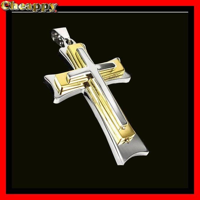 Dit mooie kruis is goud en zilverkleurig - Cheappy