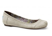 TOMS ballerina flats, linen