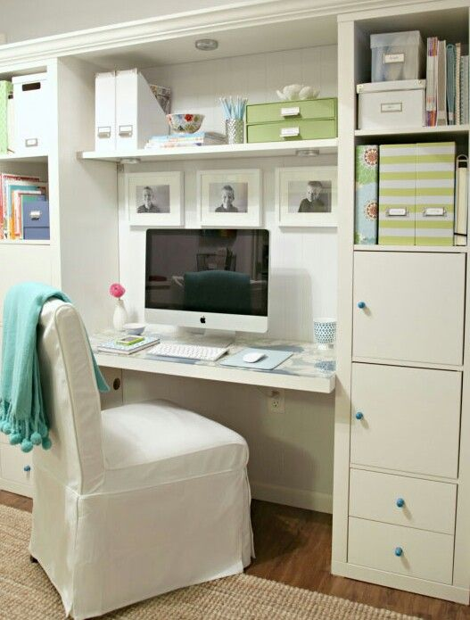 Organized office space for the home #everymomsdream
