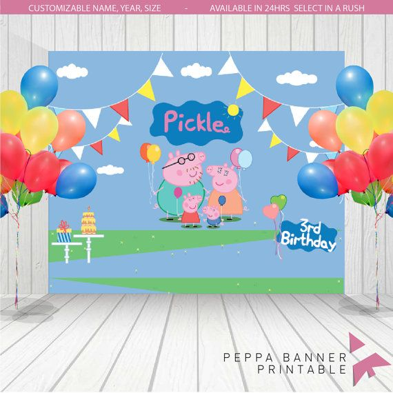 Peppa Pig Backdrop | peppa pig Birthday Banner