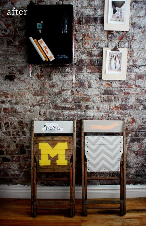 DIY Vintage Typography Chairs