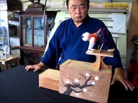 Magical container for a Japanese Automaton - YouTube