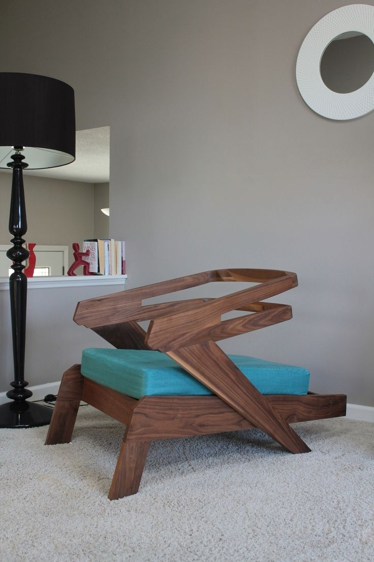 Custom Gibson lounge chair with mid-century influences but a definite  futuristic feel. All