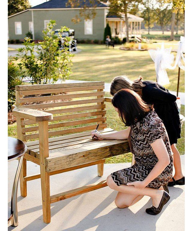 Cool Wedding Guest Sign In Ideas...we ♥ this! moncheribridals.com
