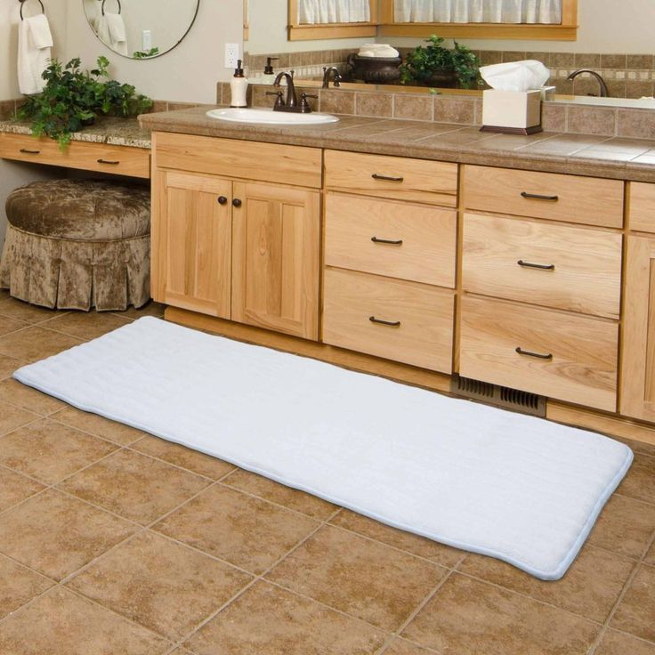 Long Bathroom Rugs   It Is The Desire Of Each And Every Homeowner To Make  Her Or His Bathroom Danger Free. The Bathroom Floor
