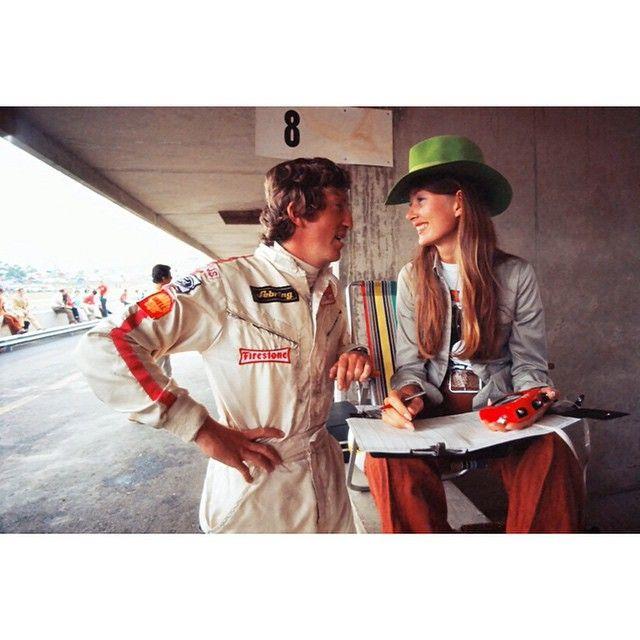 Jochen and Nina Rindt - Lotus - British grand prix - 1970.