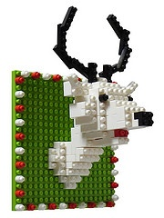 Lego reindeer. At least this deer head doesn't have those beady eyes that follow you around the room.