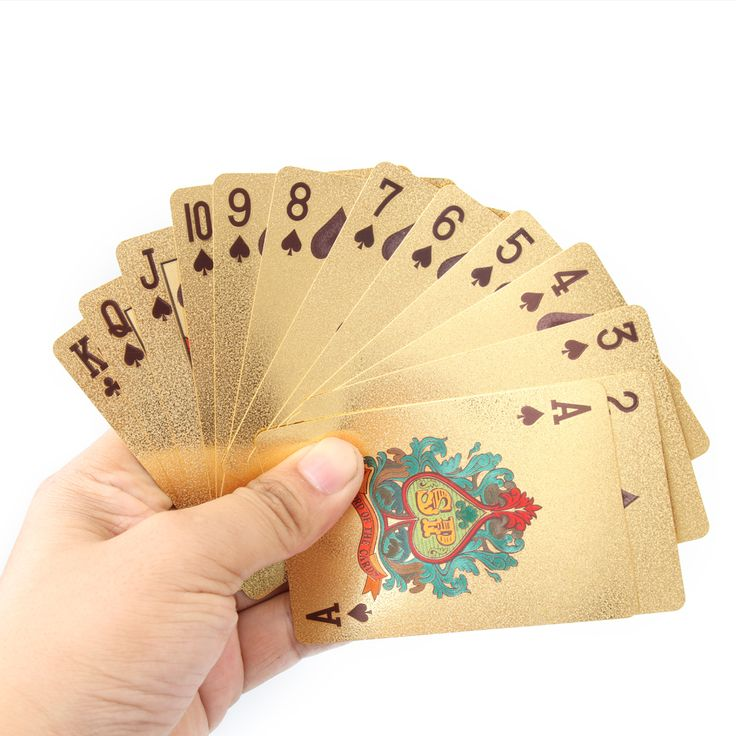 Certificate Pure Bright Novelty Gold Foil Plated Poker Playing Cards 52 Cards & 2 Jokers Gift Table Games Gambling Card Gift P15 #Affiliate