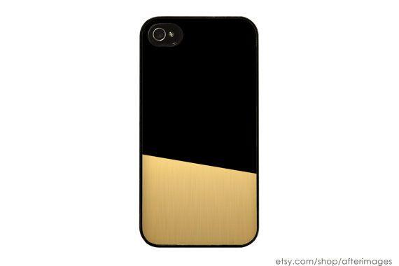 Schwarz und Gold Farbe Block iPhone Fall modernen von afterimages, $17.99