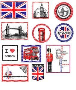 """Etiquettes à gogo: Étiquettes """"Angleterre"""" (Free)"""