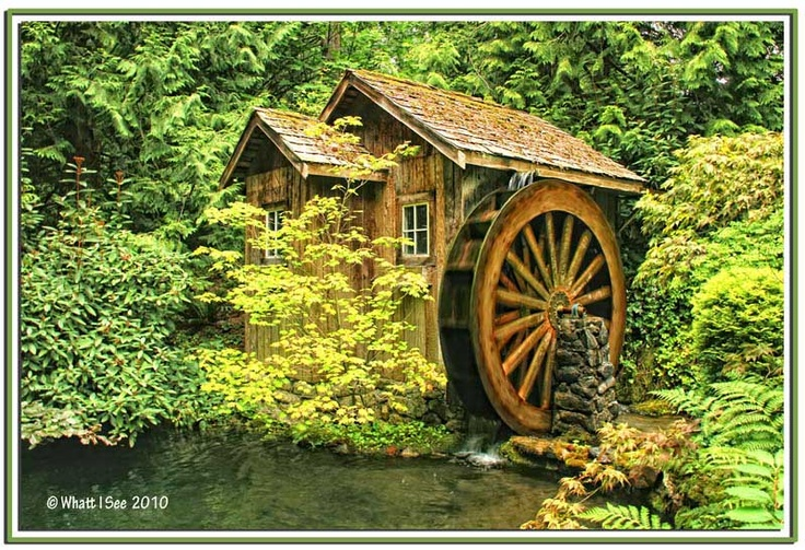 how to make a water wheel fountain