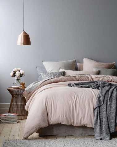 Comment utiliser le gris dans la déco ? | Une chambre en ton de gris | #chambre, #décoration, #luxe | Plus de nouveautés sur http://magasinsdeco.fr/comment-utiliser-gris-deco/