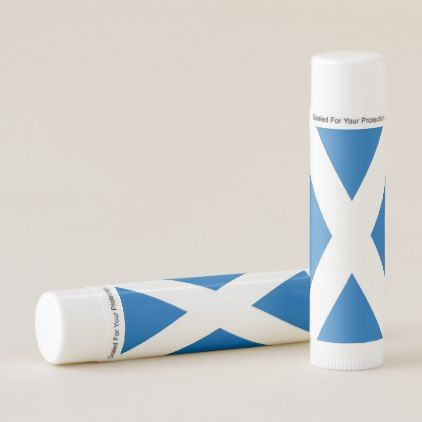 Patriotic Lip Balm with flag of Scotland - lip gifts unique lips style cyo personalize