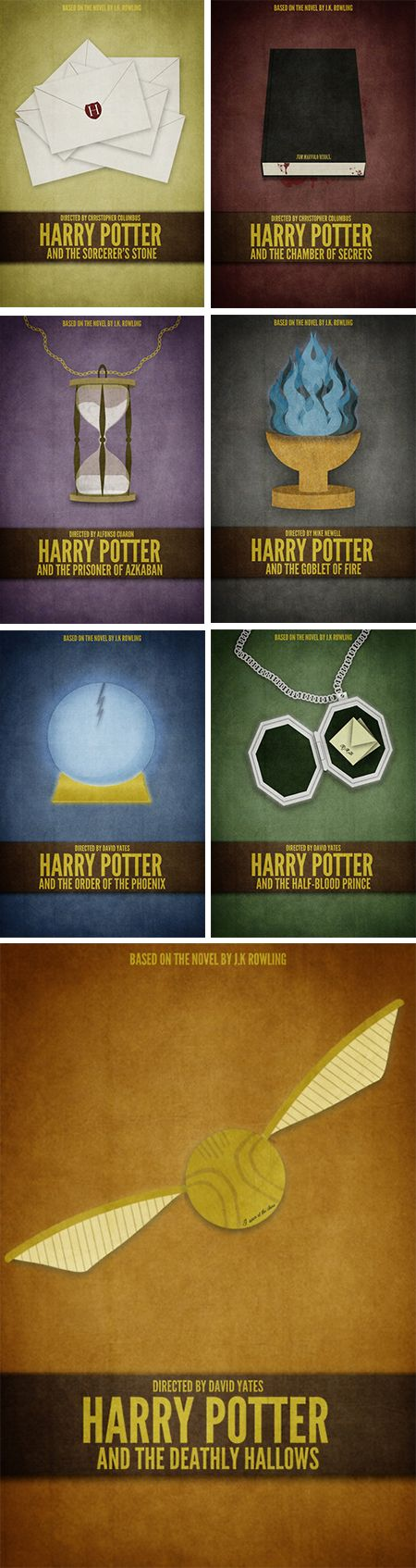 Brock Weaver has also designed book covers for HP but using a more detailed effect to catch peoples attention with the use of imagery and colour