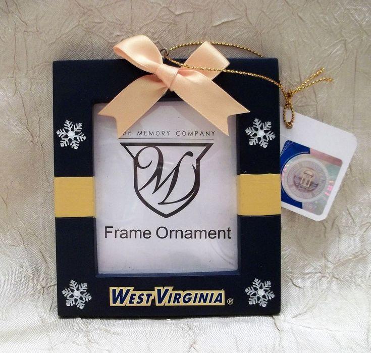 University Of West Virginia Photo Christmas Ornament Holiday Memory Company NCAA #MemoryCompany #WestVirginiaMountaineers