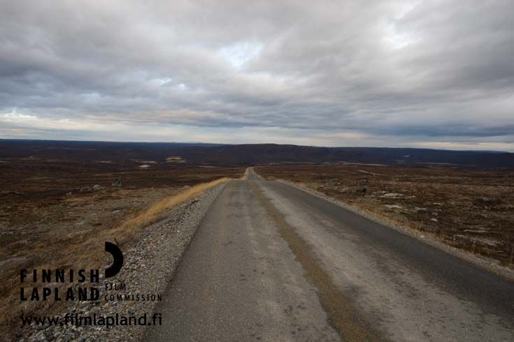 Summer road in Utsjoki, Finnish Lapland. Photo by Ilkka Mukkala #filmlapland #arcticshooting #finlandlapland