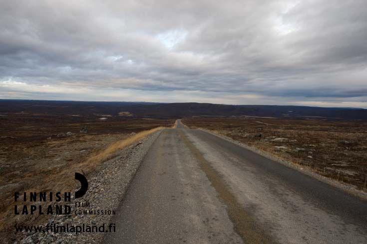 Summer road in Utsjoki, Finnish Lapland. Photo by Ilkka Mukkala #filmlapland #arcticshooting #finlandlapland