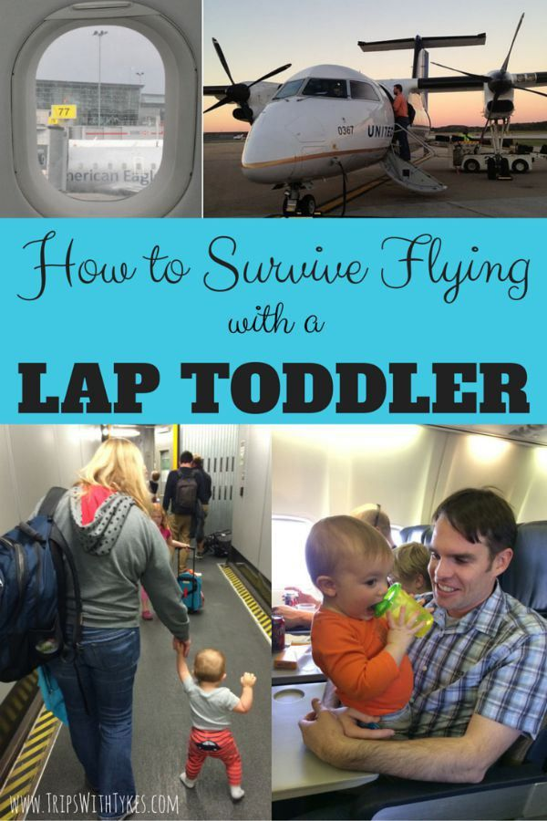 How to Survive a Flight with a Lap Toddler: Tips and tricks for air travel with little ones, especially the hardest travel stage - toddlers!