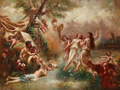 Clásica pintura renacentista con un excelente manejo del color y cuerpos humanos. www.oilpainting.com.ar consultaweb@oilpainting.com.ar