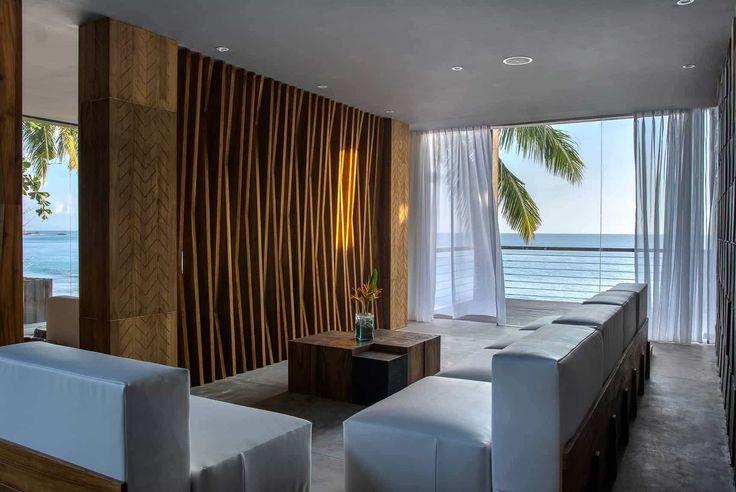 Lombok Hotel Photography - Katamaran Resort - spa lobby area with late afternoon ocean views