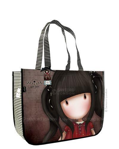 Gorjuss Large Shopping Bag - Ruby