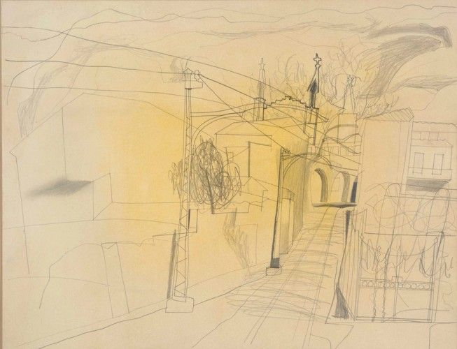 Ben Nicholson  Soller Majorca, April 1956, pencil on paper