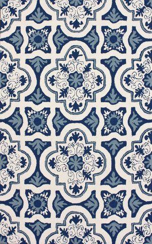 nuLOOM Light Blue Alexandria Indoor/ Outdoor area rug   Transitional, Outdoor Rugs