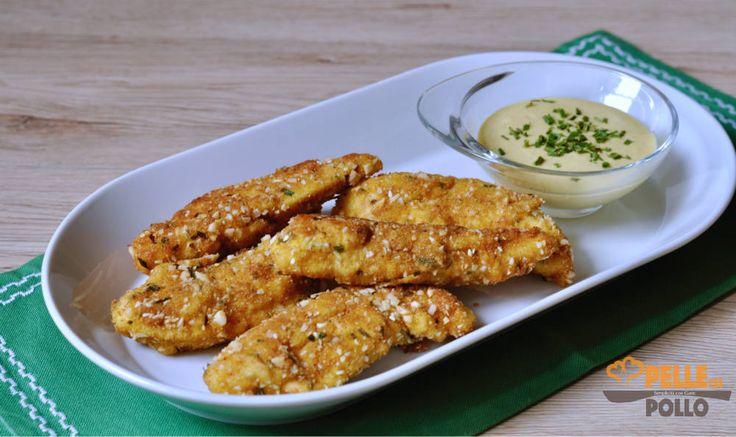 Bastoncini di pollo con salsa alla senape e miele
