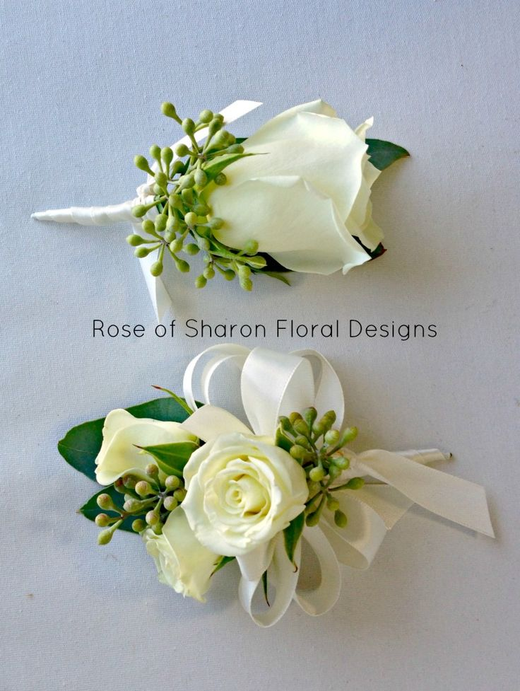 Corsage inspiration: spray roses (green roses, grass loops & less ribbon will be used.)