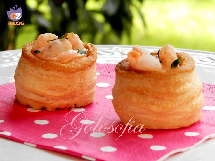Vol au vent gamberetti in salsa rosa-ricetta antipasti-golosofia