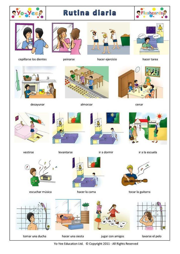 Acciones cotidianas (ficha de vocabulario)
