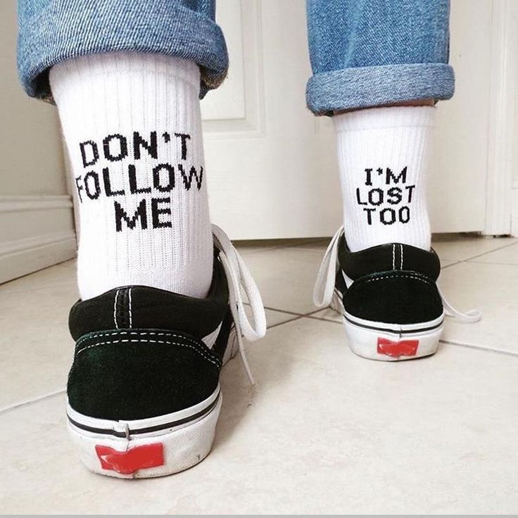 Don't Follow Me I'm Lost Too Socks