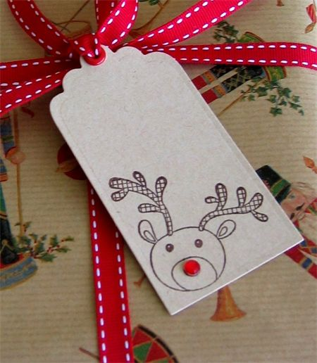 Christmas Gift Tags - Rudolph the Red Nosed Reindeer - 12 Pack | Ben and Jess | madeit.com.au - presents