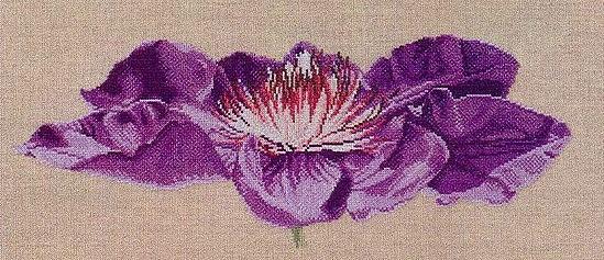 Flor lilas escuro 1