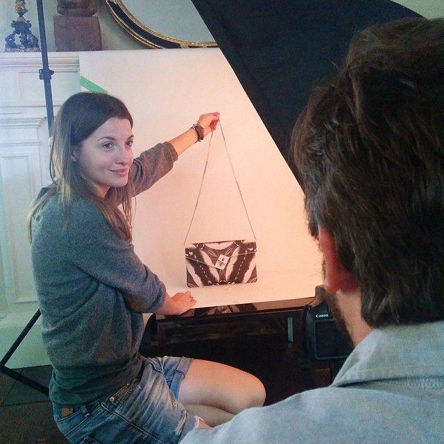 #tbt getting in on the #holiday15 lookbook shoot #elahandbags #humbleluxury