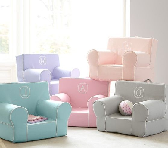 My First Aqua With White Piping Anywhere Chair In 2020 Kids Sofa Chair Kids Sofa Toddler Armchair