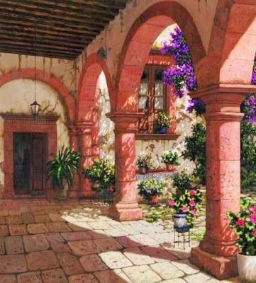 Arte en Paisajes Coloniales Mexicanos  Pintor Francisco Ayala Gress