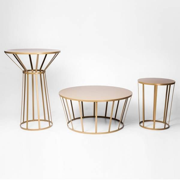 Hollo Round Table For Two Gold Amandine Chhor And Aissa Logerot