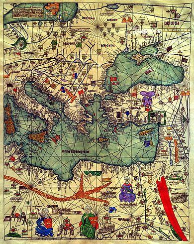 Старые карты. - Каталонский атлас, 1375.