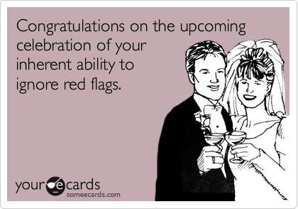 bahaha like tomorrows wedding