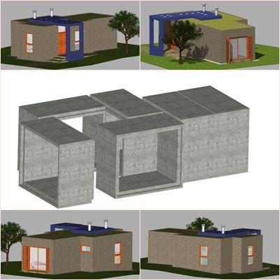 propuesta realizada tomando como elementos estructurales marcos de hormigon armado de distintos formatos, combinandolos adecuadamente, se consigue crear una vivienda unifamiliar