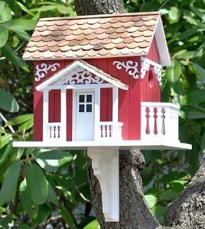 Classic Swedish Cottage Birdhouse by lila
