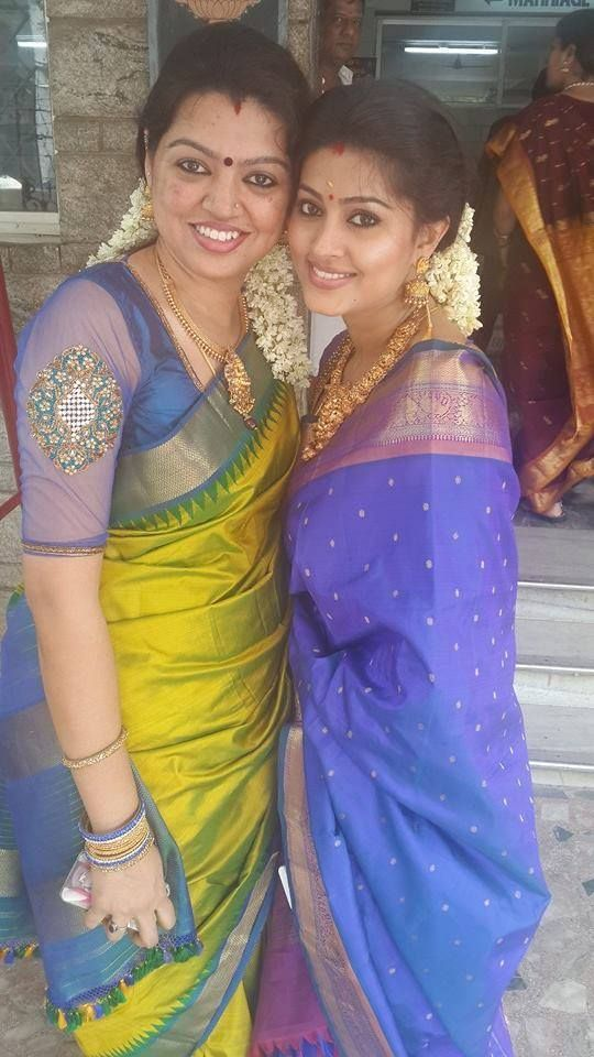 Sneha her Sister in Traditional Saris - Saree Blouse Patterns
