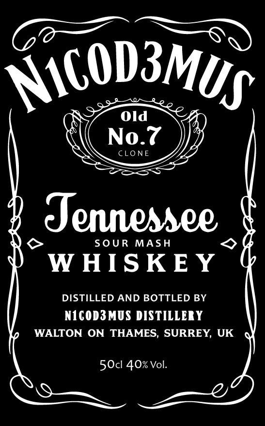 Jack Daniels Font!          So I clone the Jack Daniels Label b...