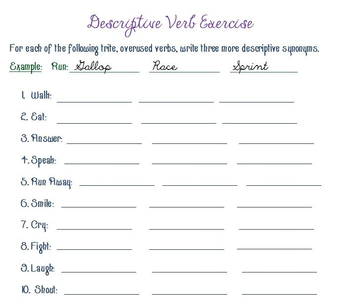 Descriptive Writing Exercises: Creative Writing Lesson Assignments for ...