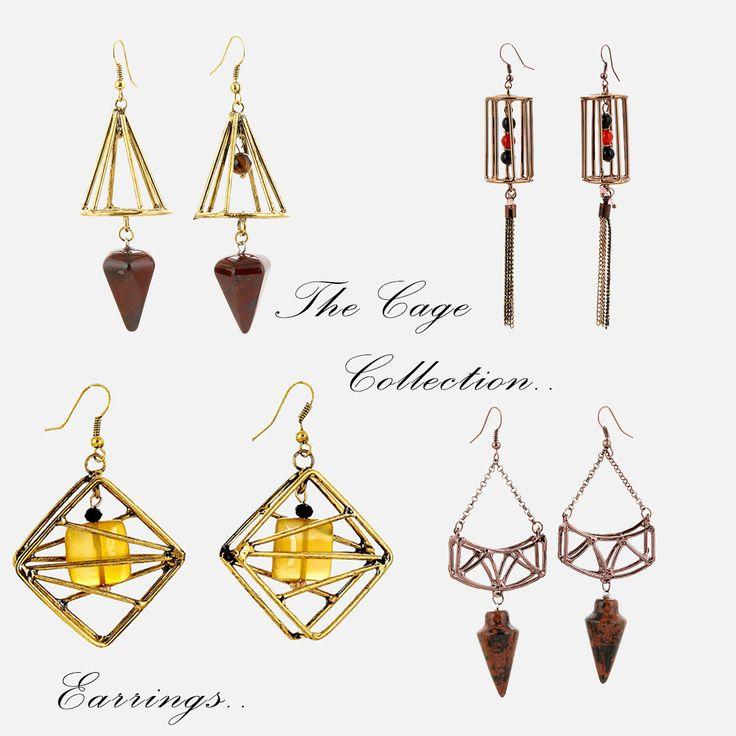 The Cage #Earrings #Collection.. #Μοναδικά #Σκουλαρίκια για όλες τις ώρες!